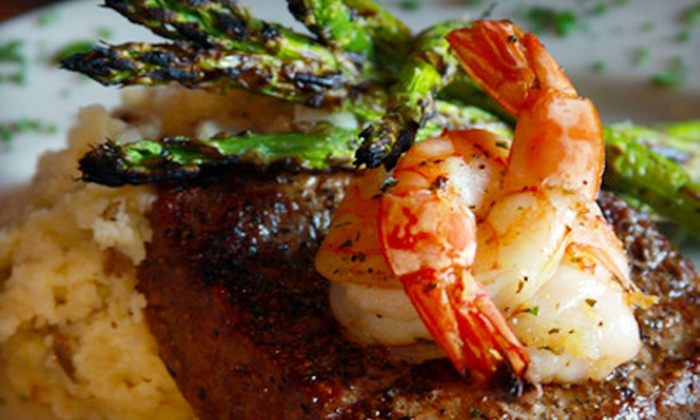 Cat City Grill - Fort Worth: Seafood and Steak-House Dinner at Cat City Grill (Up to Half Off). Two Options Available.