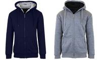 Groupon.com deals on 2-Pack Mens Heavyweight Sherpa Fleece-Lined Hoodie