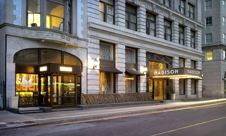 Stay at Madison Hotel in Memphis, TN. Dates into March.