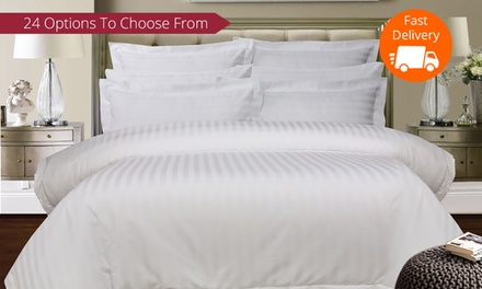 From $49 for a 1,000 Thread-Count Cotton Stripe Sheet Set or Duvet Cover Set