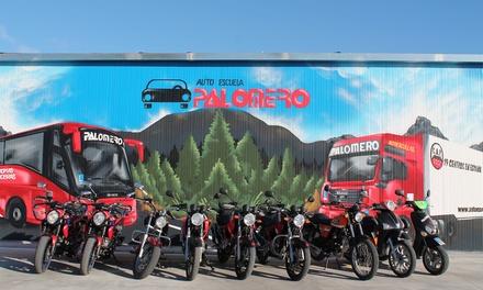 Curso de carné para moto A1 o A2 con matrícula y 5 o 7 prácticas desde 44,90€ en 22 centros de Autoescuela Palomero