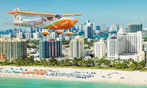 Miami Plane Tours: Aerial Tour for Two or Three from Miami Plane Tours(Up to 59% Off)