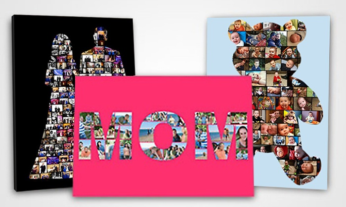 Collage.com: Custom Digital Photo-Collage Posters from Collage.com with Free Shipping (Up to 65% Off). Four Options Available.