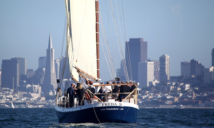 SF Bay Adventures - Freda B: $33 for a Two-Hour Sunset Sail on Friday or Monday Night from SF Bay Adventures ($55 Value)