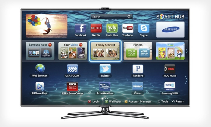 "Samsung 46"" or 55"" 1080p 240Hz LED 3D HDTV: Samsung 46"" or 55"" 1080p 240Hz Slim Smart-Control LED 3D HDTV (Up to Half Off). Free Shipping and Returns."