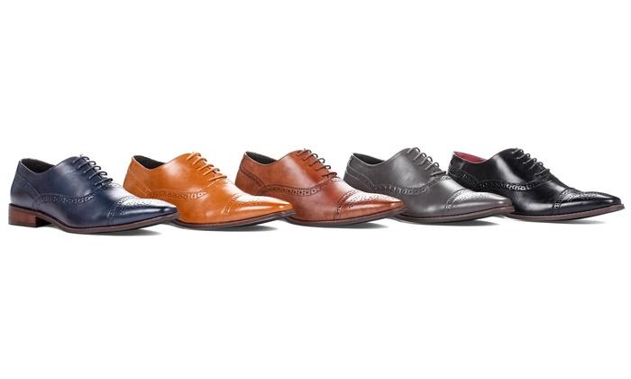Signature Men's Brogue Cap Toe Oxford Dress Shoes