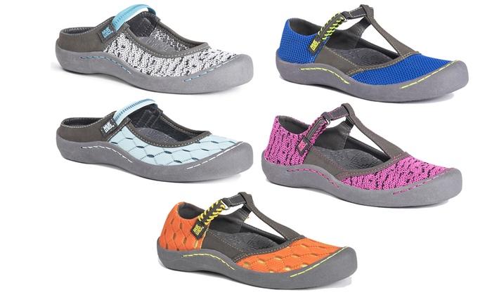 NEW Muk Luks Women's Strap Sports Shoes - Green - Size:8