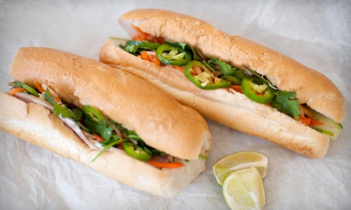 Ba Cô Bánh Mì - Allston: $15 for Three Groupons, Each Good for $10 Worth of Vietnamese Sandwiches and Drinks at Ba Cô Bánh Mì ($30 Total Value)
