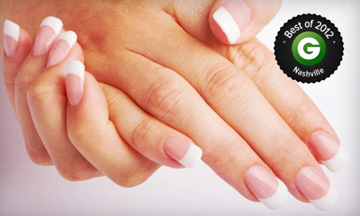 The Nail Spa at Green Hills - Green Hills: Full Set of Acrylic Enhancements or VIP Manicure and Pedicure at The Nail Spa at Green Hills (Up to 52% Off)