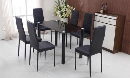 Lot de 2, 4 ou 6 chaises matelassées similicuir Valentino