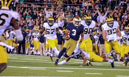 Notre Dame Football Game Against Syracuse at MetLife Stadium on Saturday, September 27 (Up to 36% Off)