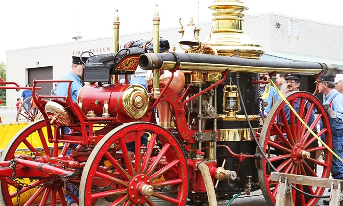 Fire Museum of Maryland - Lutherville - Timonium: Fire Museum of Maryland Visit for Two Adults and One Kid or One Adult and Two Kids (Up to 46% Off)