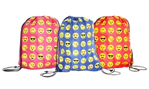 Kids' Emoji Drawstring Backpack