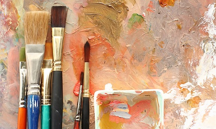 Painting Party for 10 People, Painting Class for One, or a Private Painting Lesson at Gallery 66 (Up to 42% Off)