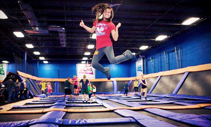 Sky Zone Indoor Trampoline Park - Peoria: Two or Four Open-Jump Time Passes, or 10 SkyRobics Fitness Classes at Sky Zone Indoor Trampoline Park (Up to 63% Off)