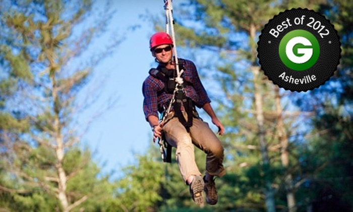 The Beanstalk Journey at Catawba Meadows - Morganton: $59 for a Zipline Canopy Tour for Two at The Beanstalk Journey at Catawba Meadows in Morganton (Up to $118 Value)