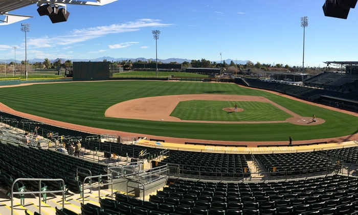 Oakland A's - HOHOKAM PARK: One Ticket to Oakland A's Spring Training Game at Renovated Hohokam Stadium (Up to 40% Off). Four Games Available.