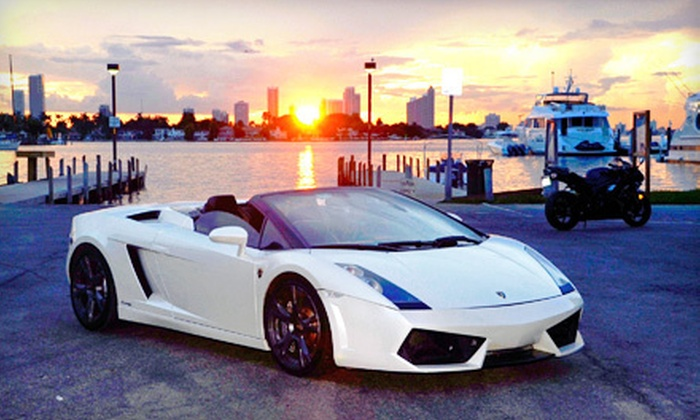 I-95 Exotics - Miami Beach: One-Hour Exotic-Car Test Drive or Full-Day Luxury-Car Rental from I-95 Exotics in Miami Beach (Up to 54% Off)