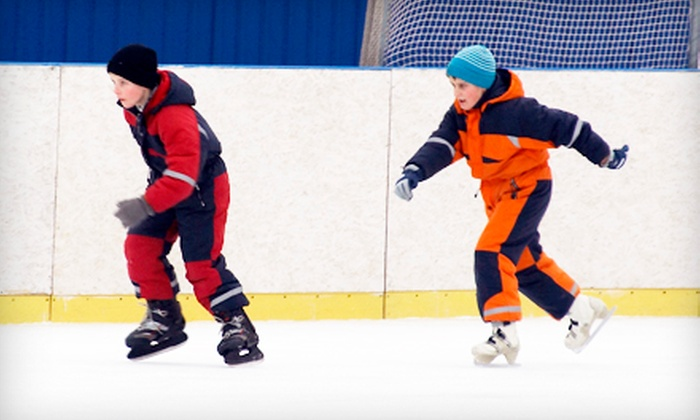 Wichita Ice Center - Delano: Ice Skating with Skate Rental for Four or Six at Wichita Ice Center (Up to 60% Off)
