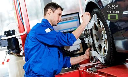 Alinhamento, higienização de ar condicionado, revisão da suspensão e rolamento no Mara Car Centro Automotivo – Centro