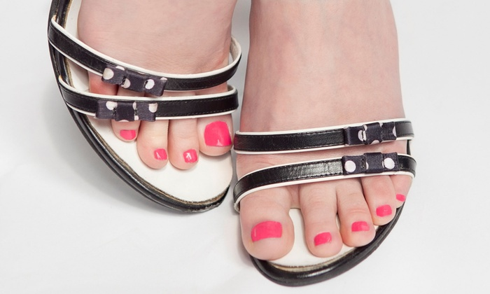 Exceptional Nails By Jackie - Commack: 1 or 3 Shellac Manicures with Pedicures or Full Set of Acrylic Nails at Exceptional Nails by Jackie (Up to 54% Off)