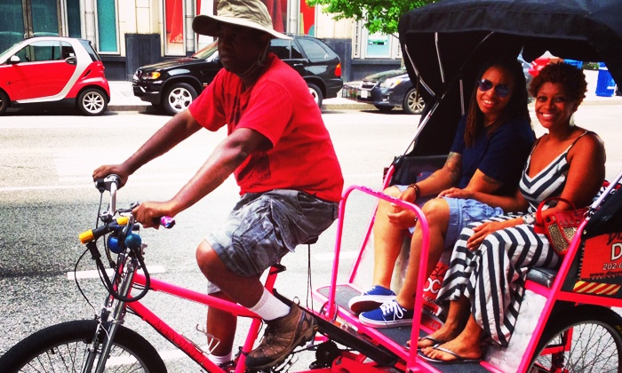 Discover DC Pedicab Tours - Downtown - Penn Quarter - Chinatown: Monuments Tour for Two or Four from Discover DC Pedicab Tours (50% Off)