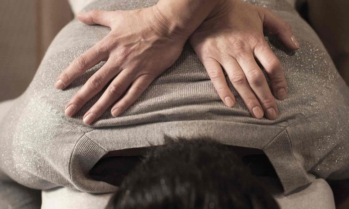 The Joint - Miller Place: Chiropractic, Consultation, Exam, and Four Adjustments in One Month at The Joint (Up to $116 Value)