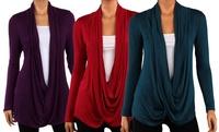 GROUPON: Women's Plus Size Criss Cross Cardigan Women's Plus Size Criss Cross Cardigan