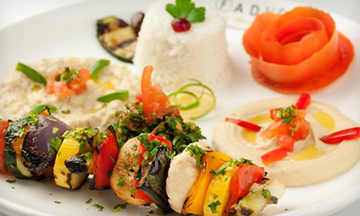 Fadi's Mediterranean Grill - Multiple Locations: $10 for $20 Worth of Mediterranean Dinner Cuisine Sunday–Thursday or Friday and Saturday at Fadi's Mediterranean Grill