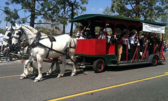 Temecula Carriage Company - South Coast Winery HOTEL: $79 for Breakfast or Dinner for Two Aboard a Horse-Drawn Trolley from Temecula Carriage Company ($160 Value)