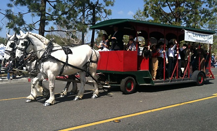 $79 for Breakfast or Dinner for Two Aboard a Horse-Drawn Trolley from Temecula Carriage Company ($160 Value)