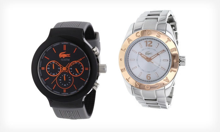 up to 40% off a lacoste men s or women s watch groupon lacoste watches for men or women lacoste watches for men or women up to