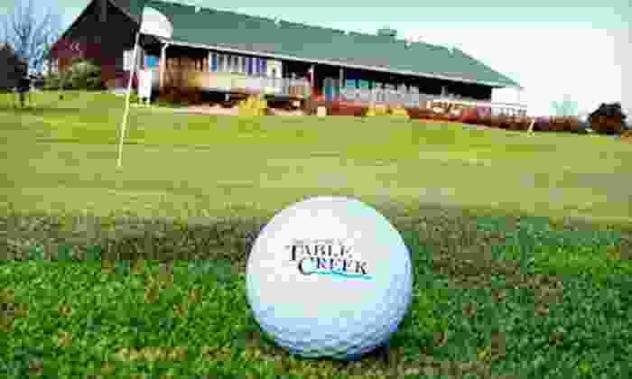 Table Creek Golf Course - Table Creek Golf Course: 18 Holes of Golf for Two or Four with Range Balls at Table Creek Golf Course (Up to 68% Off)