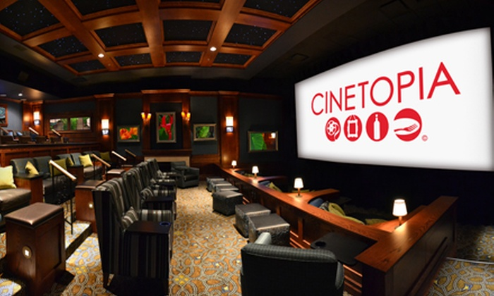 Cinetopia - Multiple Locations: $19 for a Movie and Drinks for Two at Cinetopia (Up to $49 Value)
