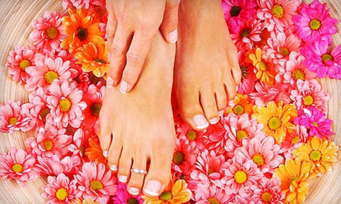 Charisma & Associates Hair Salon - Portage: $39 for a Classic Mani-Pedi with Paraffin Dip and Exfoliating Foot Mask at Charisma & Associates Hair Salon ($85 Value)