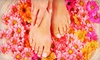 54% Off Mani-Pedi with Paraffin Dip and Foot Mask