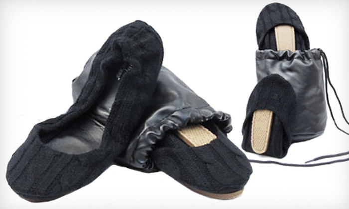 Black Cable CitySlips Foldable Flats: $20 for Black Cable CitySlips Foldable Flats in S–L with a Matching Carrying Pouch ($58 List Price). Free Shipping.
