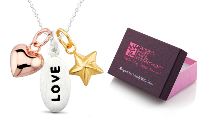 Breast cancer foundation jewelry