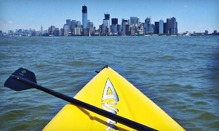 Paddle Out Kayak Club - North Jersey: 90-Minute Standup Paddleboard Tour for One or Kayak Tour for One with Paddle Out Kayak Club in Edgewater (Up to 55% Off)