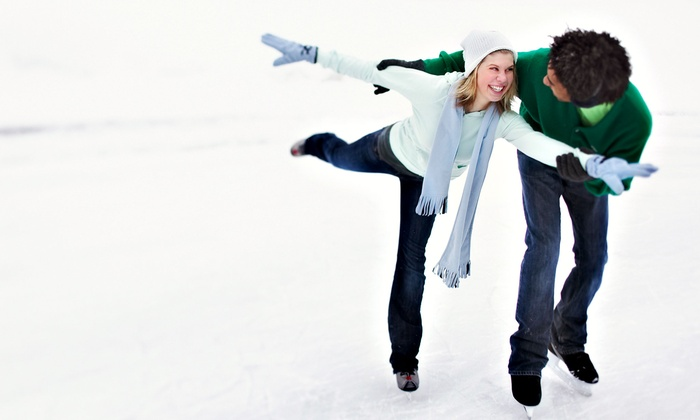 Portland Ice Arena - Portland: Ice-Skating with Skate Rentals for Two, Four, or Ten at Portland Ice Arena (Up to 57% Off)
