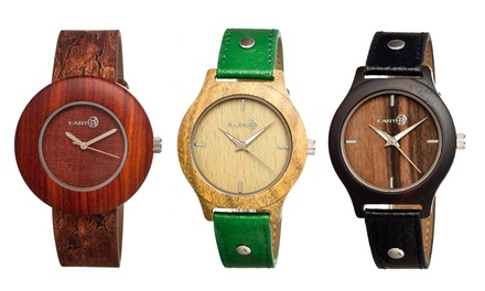 Earth Tannins or Ligna Unisex Eco-Friendly Wooden Watches