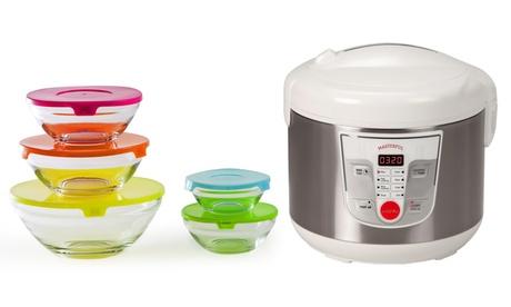 Robot de cocina Masterful y boles de cristal de colores Newcook