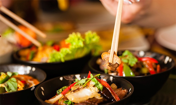 Wok & Roll Asian Cuisine - Spring Lake: Sushi and Thai Cuisine for Two or Four at Wok & Roll Asian Cuisine (Up to 45% Off). Two Options Available.
