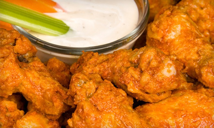 Long Wong's - Tempe: Pizza, Wings, and Salad for Four or Two Dozen Wings at Long Wong's in Tempe (Up to 56% Off)