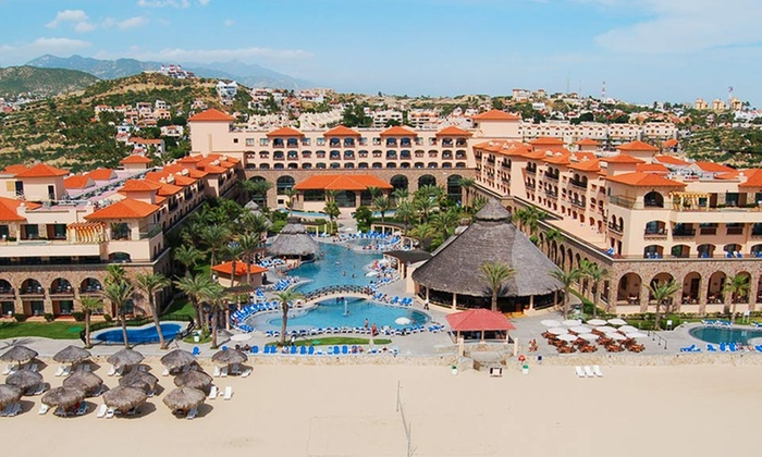 All-Inclusive Royal Solaris Los Cabos Vacation with Airfare from Vacation Express - San Jose del Cabo: All-Inclusive Royal Solaris Los Cabos Stay with Airfare. Price/Person Based on Double Occupancy. Includes Taxes & Fees.