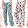 Intimo Women's Printed Knit Sleep Pants