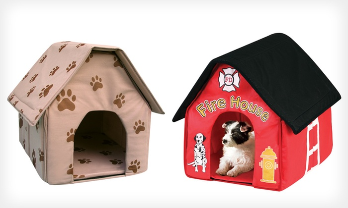 Etna Products Doghouses: $14.99 for an Etna Products Firehouse or Paw Prints Doghouse (Up to $20.34 List Price)