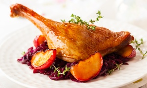 La Régalade French Bistro: Three-Course Dinner for Two or Four or Lunch for Two at La Régalade French Bistro (Up to 45% Off)
