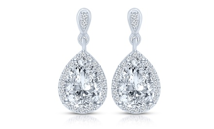 10-Carat Cubic Zirconia Drop Earrings