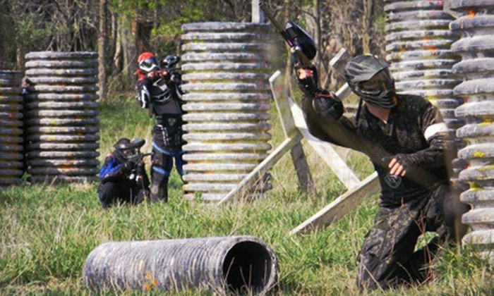 Badlandz Paintball Field - Crete: Paintball with Equipment and 250 Paintballs for Two, Four, or Eight at Badlandz Paintball Field (Up to 71% Off)